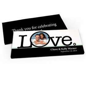 Deluxe Personalized Big Love Photo Cameo Wedding Candy Bar Favor Box