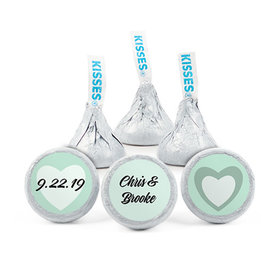 Personalized Wedding Reception Dazzling Hearts Hershey's Kisses (50 pack)