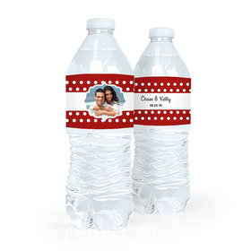 Personalized Polka Dots Wedding Water Bottle Labels (5 Labels)