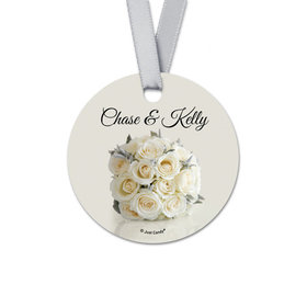 Personalized Bouquet Wedding Round Favor Gift Tags (20 Pack)