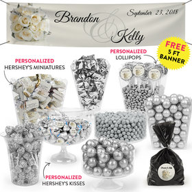 Personalized Wedding Flower Bouquet Deluxe Candy Buffet