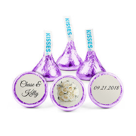 Personalized Wedding Reception Timeless Bouquet Hershey's Kisses (50 pack)