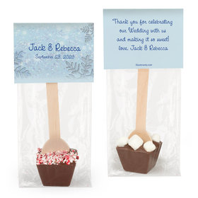 Personalized Wedding Winter Wonderland Hot Chocolate Spoon