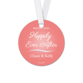 Personalized Happily Ever After Wedding Round Favor Gift Tags (20 Pack)