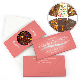 """Personalized """"Happily Ever After"""" Wedding Gourmet Infused Belgian Chocolate Bars (3.5oz)"""