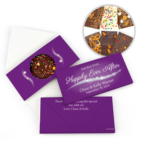 "Personalized ""Happily Ever After"" Wedding Gourmet Infused Chocolate Bars (3.5oz)"
