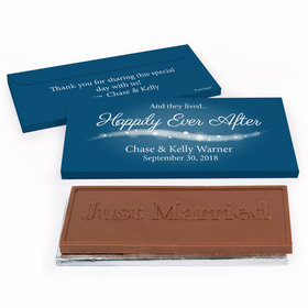 "Deluxe Personalized ""Happily Ever After"" Wedding Chocolate Bar in Gift Box"