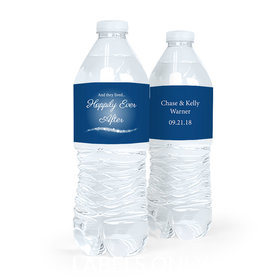 Personalized Happily Ever After Wedding Water Bottle Labels (5 Labels)