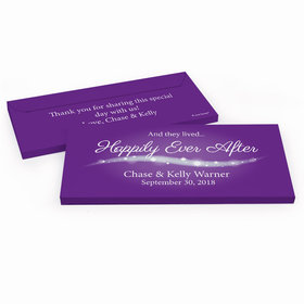 """Deluxe Personalized """"Happily Ever After"""" Wedding Hershey's Chocolate Bar in Gift Box"""