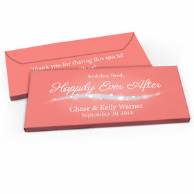 """Deluxe Personalized """"Happily Ever After"""" Wedding Candy Bar Favor Box"""