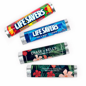 Personalized Wedding Tropics Lifesavers Rolls (20 Rolls)