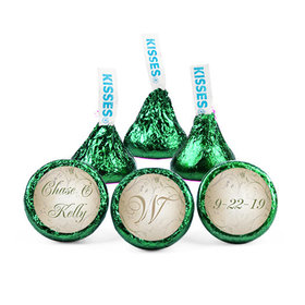 Personalized Wedding Reception Leave Swirls Hershey's Kisses (50 pack)