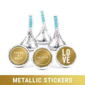 Personalized Hershey's Kisses - Metallic Wedding Bold Love (50 Pack)