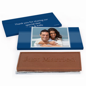 Deluxe Personalized Photo Wedding Chocolate Bar in Gift Box
