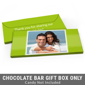 Deluxe Personalized Photo Wedding Candy Bar Cover