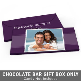 Deluxe Personalized Photo Wedding Candy Bar Favor Box