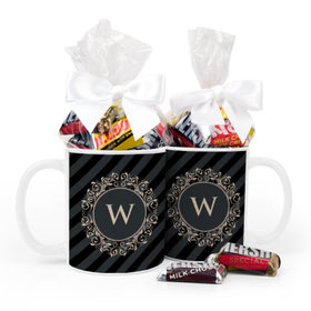 Personalized Wedding Regal Stripes 11oz Mug with Hershey's Miniatures