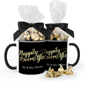 Personalized Wedding Happily Ever After 15oz Mug with Hershey's Kisses