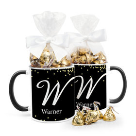 Personalized Wedding Confetti 11oz Mug with Hershey's Kisses