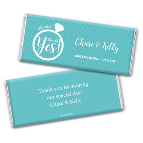 Put a Ring On It Engagement Favors Personalized Candy Bar - Wrapper Only