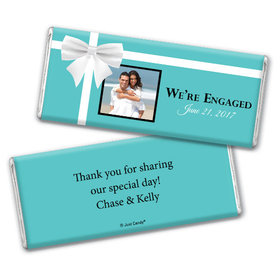 Engagement Party Personalized Chocolate Bar Tiffany Style Present