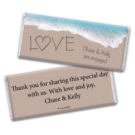 Hand in Hand Engagement Favors Personalized Candy Bar - Wrapper Only