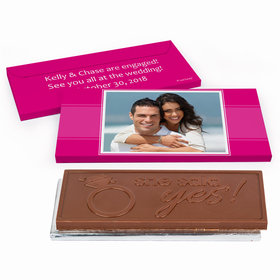 Deluxe Personalized Photo Engagement Chocolate Bar in Gift Box