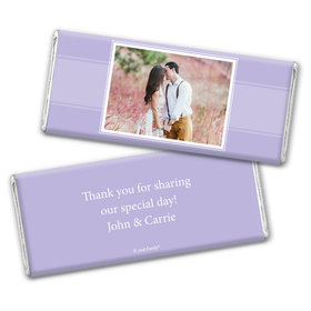 Engagement Portrait Party Favors Personalized Candy Bar - Wrapper Only