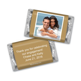 Personalized Candy Bar & Wrapper Engagement Snapshot Favors Hershey's Miniatures