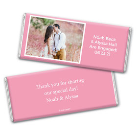 Engagement Snapshot Favors Personalized Candy Bar - Wrapper Only