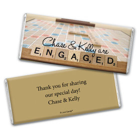 Engagement Party Personalized Chocolate Bar Scrabble Letters