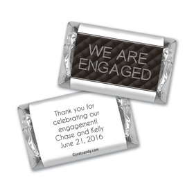 Engagement Party Personalized HERSHEY'S MINIATURES Chanel Inspired Quilted Engaged!