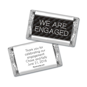 Engagement Party Personalized HERSHEY'S MINIATURES Wrappers Chanel Inspired Quilted Engaged!