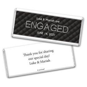 Posh Party Engagement Favors Personalized Candy Bar - Wrapper Only