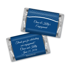 Engagement Party Favor Personalized HERSHEY'S MINIATURES Sunburst Hearts Pattern