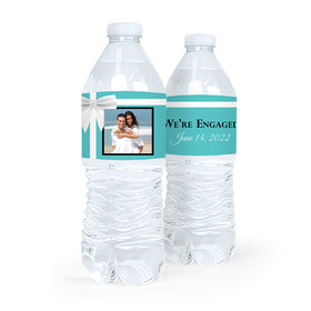 Personalized Engagement Tiffany Style Water Bottle Sticker Labels (5 Labels)