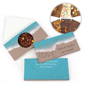 Personalized Engagement Seashore Love Engagement Gourmet Infused Belgian Chocolate Bars (3.5oz)