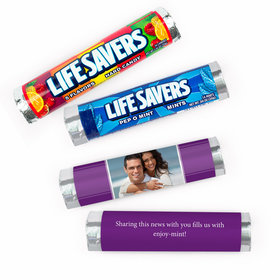 Personalized Engagement Photo Lifesavers Rolls (20 Rolls)