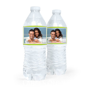 Personalized Engagement Photo Water Bottle Sticker Labels (5 Labels)