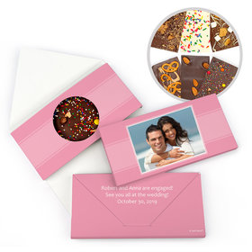 Personalized Engagement Simple Photo Engagement Gourmet Infused Belgian Chocolate Bars (3.5oz)