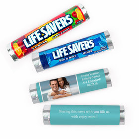Personalized Engagement Snapshot Lifesavers Rolls (20 Rolls)