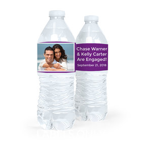 Personalized Engagement Snapshot Water Bottle Sticker Labels (5 Labels)