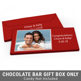 Deluxe Personalized Photo Engagement Candy Bar Favor Box