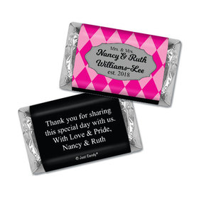 Personalized Hershey's Miniatures - Lesbian Wedding Mrs. & Mrs. Regal