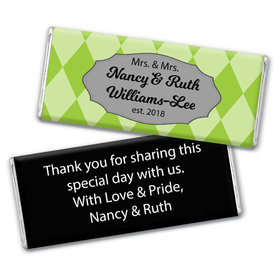 Personalized Chocolate Bar & Wrapper - Lesbian Wedding Mrs. & Mrs. Regal