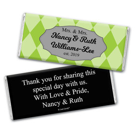 Personalized Chocolate Bar Wrappers Only - Lesbian Wedding Mrs. & Mrs. Regal