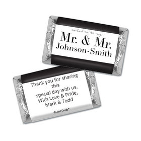 Personalized Hershey's Miniatures - Gay Wedding To Have & to Hold