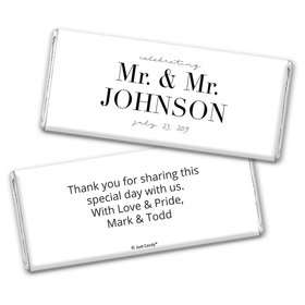 Personalized Chocolate Bar Wrappers Only - Gay Wedding To Have & to Hold