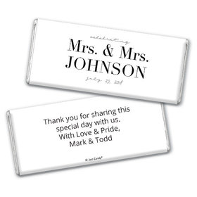 Personalized Chocolate Bar & Wrapper - Lesbian Wedding To Become One