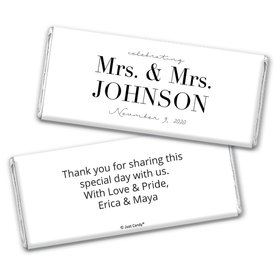 Personalized Chocolate Bar Wrappers Only - Lesbian Wedding To Become One